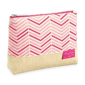 Cotton & Wicker Cosmetic Bag