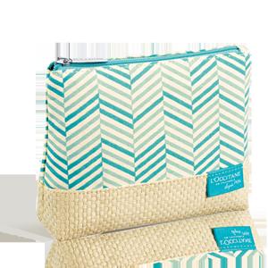 Cotton & Wicker Cosmetic Bag