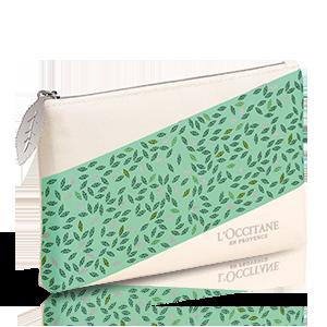 Leaf Pattern Cosmetic Bag