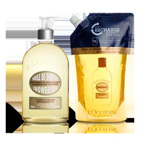 Luxury Almond Shower Oil Refill Duo