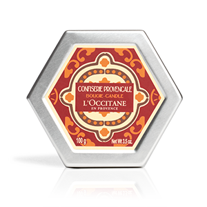 Luxury candied fruit scented French candles from L'OCCITANE