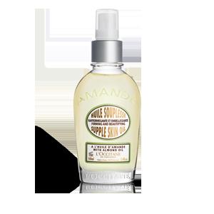 Almond body oil with omega 6 to moisturise skin
