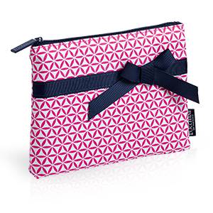 Pink Patterned Cosmetic Bag