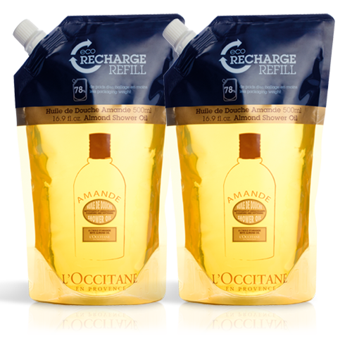 Large Almond Shower Oil Refill Duo