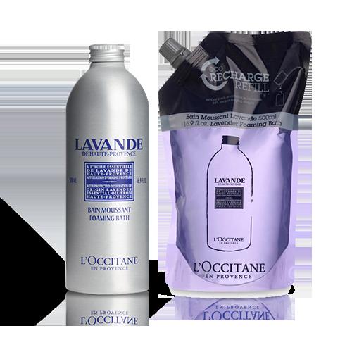 Lavender Foaming Bath Refill Duo