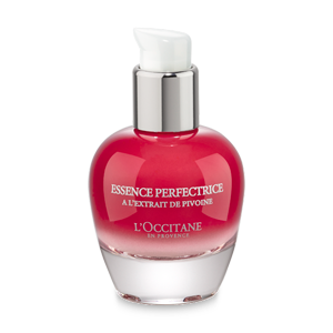 L'Occitane Peony Perfecting Essence Serum, a hydrating face serum for a brighter complexion