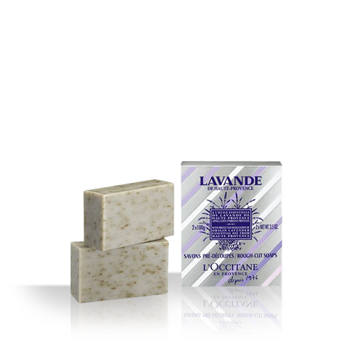 Lavender Rough-Cut Soaps 2x75g