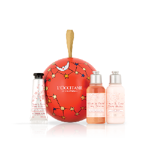 Sweet Cherry Blossom Bauble Ornament - L'Occitane