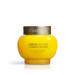 l'Occitane Immortelle Divine Cream that fight wrinkles and aging problems.