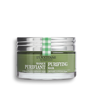 L'Occitane purifying mask eliminates dead skin cells for soft and healthy skin