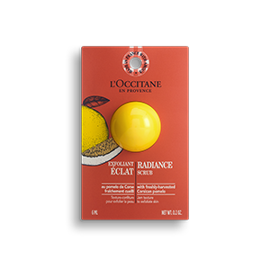 L'Occitane Radiance scrub removes impurities and dead cells, leaving behind smooth and radiant skin.