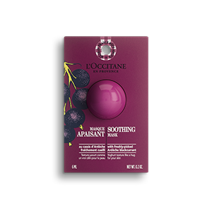 L'Occitane soothing mask contains the minerals essential for the skin's proper functioning.