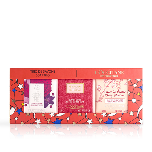 Floral Soap Trio
