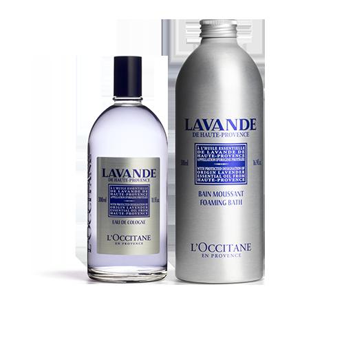 Lavender Foaming Bath & Cologne Duo