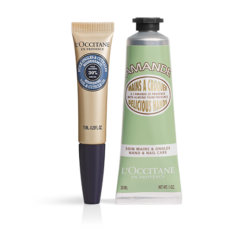 Shea Butter Cuticle Oil & Almond Hand Cream Duo