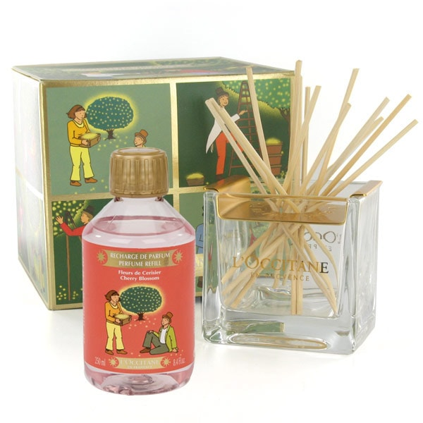 L'OCCITANE - Cherry Blossom Perfume Refill & Home Perfume Diffuser Set - Concentrated Home Perfume - Usage :  shopping fresh home fragrance
