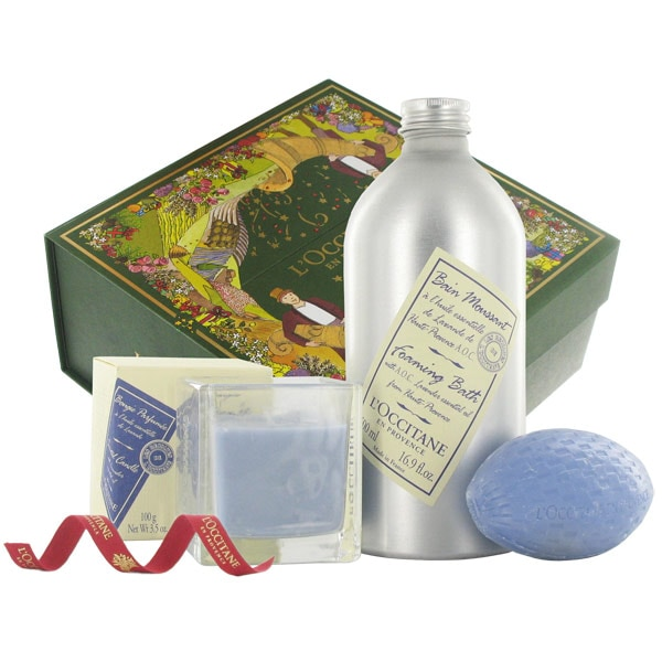 L'Occitane - The Lavender Spa  :  gift scented candle and soap loccitane the lavender spa loccitane spa set