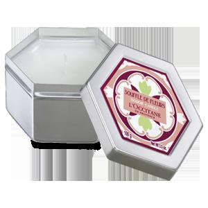 Vela perfumada - Flores Blancas