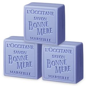 3 Jabónes Tradicional Bonne Mère Lavanda 100 g