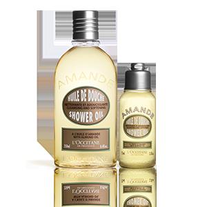 Aceite de Ducha Almendra | Gel de Ducha & tamaño viaje