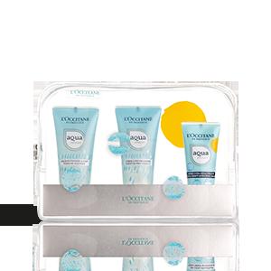 Neceser de Viaje Hidratación Aqua Réotier - Crema | L'OCCITANE