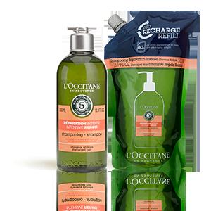 Duo Shampoing Réparation Intense et son Éco-recharge | Cheveux secs et abimés