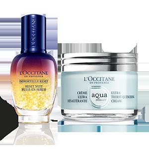 Duo réparateur de nuit Crème Aqua Réotier - L'Occitane