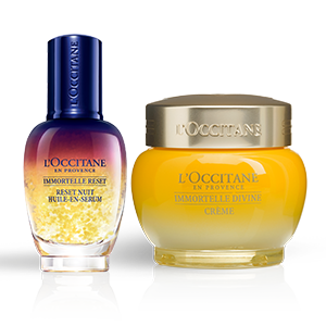 Duo réparateur de nuit Divine Immortelle - L'Occitane