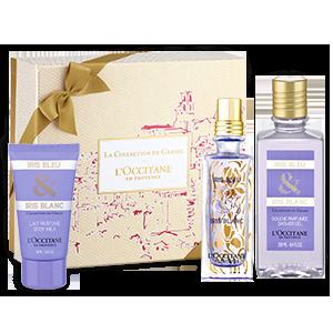 Coffret Cadeau Parfum Iris Bleu & Blanc
