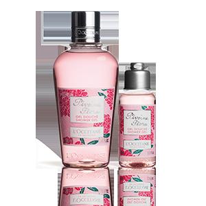 Duo pour la douche Pivoine Flora | Gel douche & format voyage