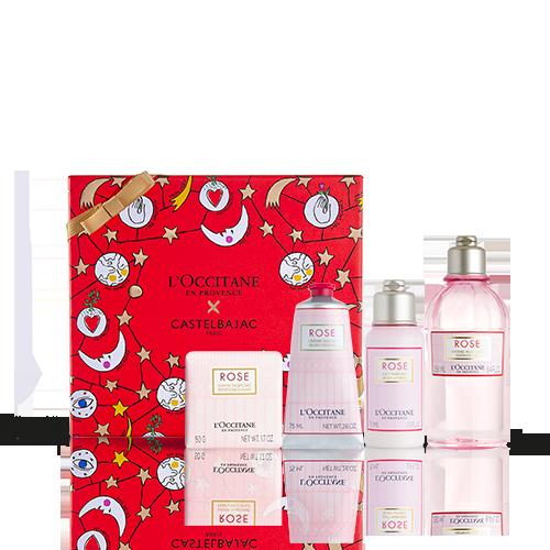 Coffret Cadeau Noël - Bain Rose
