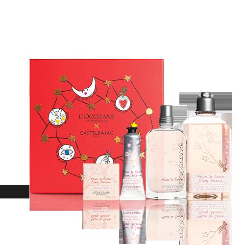 Coffret Cadeau Noël - Parfum Fleurs de Cerisier