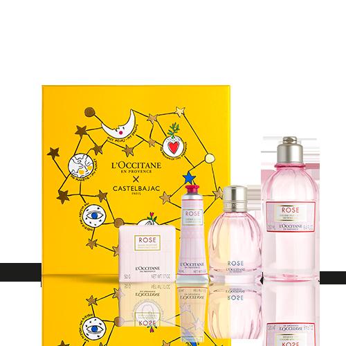 Coffret Cadeau Noël - Parfum Rose