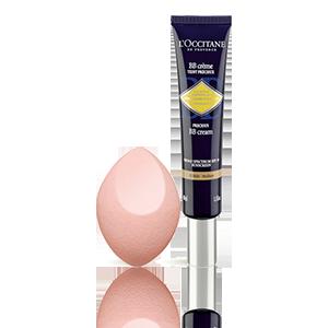 BB Crème Teint Précieux Immortelle SPF30 - Teinte Hâlée + Éponge de maquillage