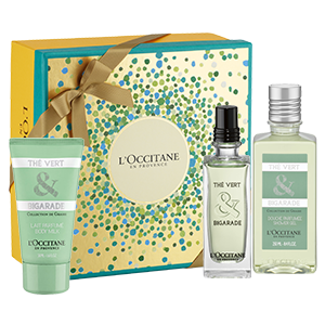 coffret cadeau parfum th vert et bigarade l 39 occitane en. Black Bedroom Furniture Sets. Home Design Ideas