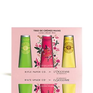 Trio de crèmes mains au beurre de Karité Rifle Paper Co. | L'OCCITANE