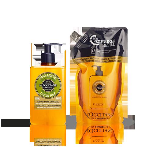 Duo Savon Liquide Verveine 500ml et son Eco-recharge