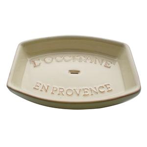Rectangular Cream Soap Dish