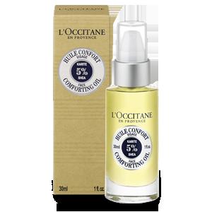 Shea face comforting oil alami L'Occitane untuk berikan kenyamanan pada kulit kering