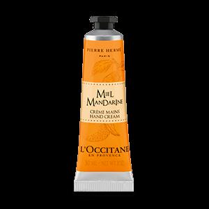 Honey Mandarin Hand Cream dengan shea butter dan wangi madu & jeruk yang melembapkan dan menghaluskan tangan.