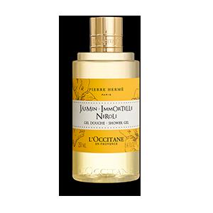 Jasmin Immortelle Neroli Shower Gel yang membersihkan dan mengharumkan kulit.