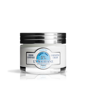 Shea butter light comforting moisturizing cream L'Occitane untuk kulit kombinasi
