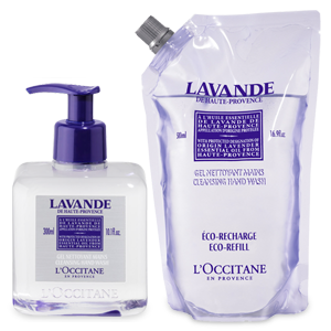 Duo Gel Detergente Mani Lavande + Eco-Ricarica