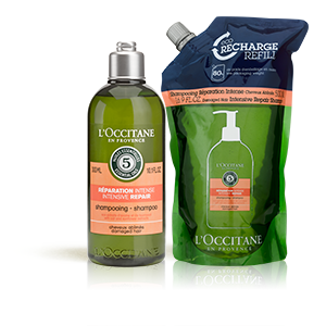 Duo Shampoo Riparatore Intenso e la sua Eco-ricarica | Capelli secchi e rovinati