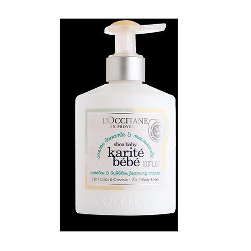 Crema Detergente Morbida Schiuma Karité Bébé