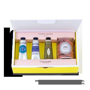 【クッキーサブレとお届け】PIERRE HERME PARIS × L'OCCITANE (リフレッシュ)◆