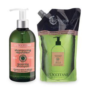 Stiprinamasis sausų ir pažeistų plaukų šampūnas - Eko Duetas