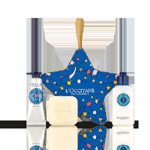Šventinė žvaigždė su taukmedžių sviesto produktais