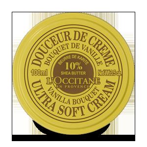 Vanilės kvapo kūno kremas su 10% taukmedžių sviesto