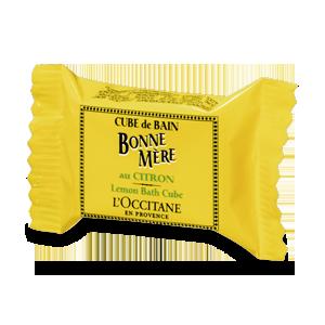 Bonne Mere Lemon Bath Cube